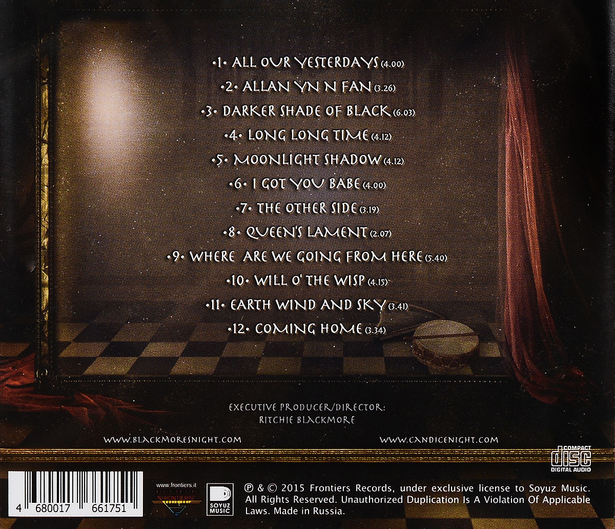 Blackmore's Night.  All Our Yesterdays Концерн