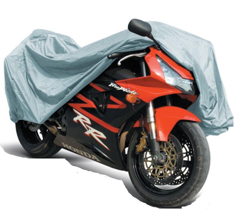 Защитный чехол-тент на мотоцикл AVS, 246 см х 104 см х 127 см. Размер XL80536Защитный чехол-тент для мотоциклов AVS изготовлен из трапулина (полиэстер), материал водонепроницаем, устойчив к низким температурам и внешним химическим воздействиям, обладает хорошей термоизоляцией. Чехол с мягкой подкладкой и двойным швом защитит лакокрасочное покрытие от выцветания и от ультрафиолета, от пыли, песка, грязи и пыльцы, снега и льда. В комплекте сумка для хранения тента.