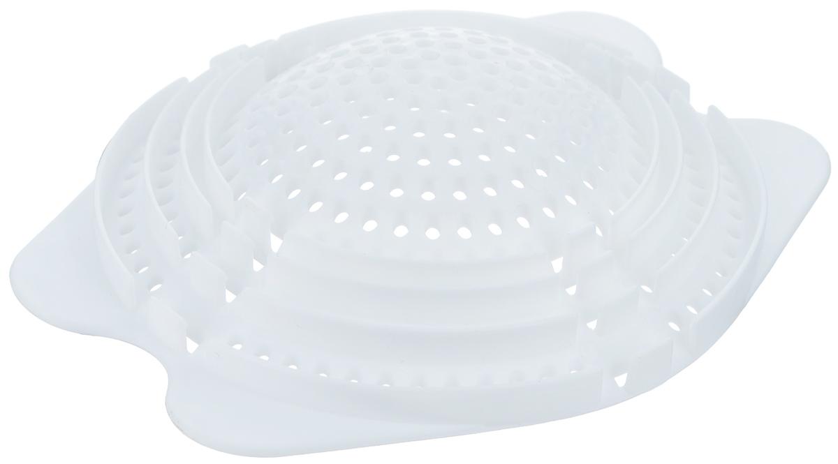 """Приспособление """"LaSella"""", выполненное из прочного пластика, обеспечивает легкий слив жидкостей из всех типов банок. Можно сливать плотные жидкости. Защелка защищает пальцы от острых краев банок и препятствует большому количеству брызг."""