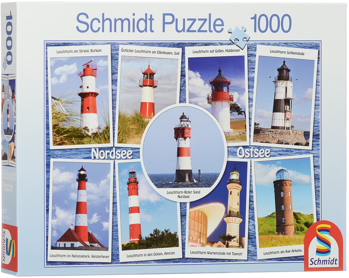 Schmidt Пазл Самые красивые маяки, 1000 элементов