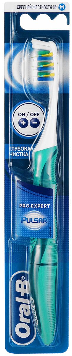 Oral-B Зубная щетка электрическая Pulsar Expert, средняя жесткость, цвет: бирюзовый