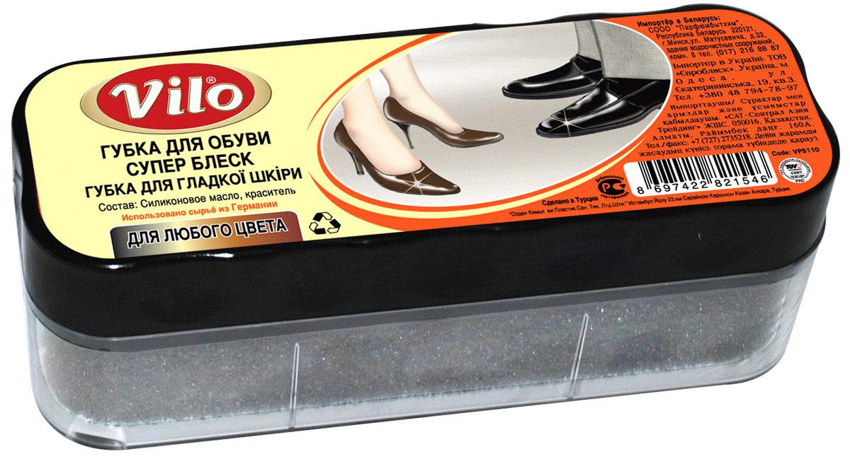 Губка для обуви из гладкой кожи Vilo Суперблеск, цвет: бесцветный, 12 см х 4,5 см х 4,5 см17583Губка Vilo Суперблеск с силиконовым маслом и красителем предназначена для ухода за обувью из гладкой кожи, она придает ей естественный блеск и освежает цвет.Состав: силиконовое масло, краситель.