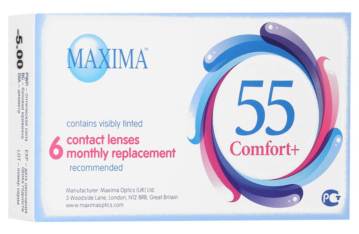 Maxima контактные линзы 55 Comfort Plus (6шт / 8.6 / -5.00)