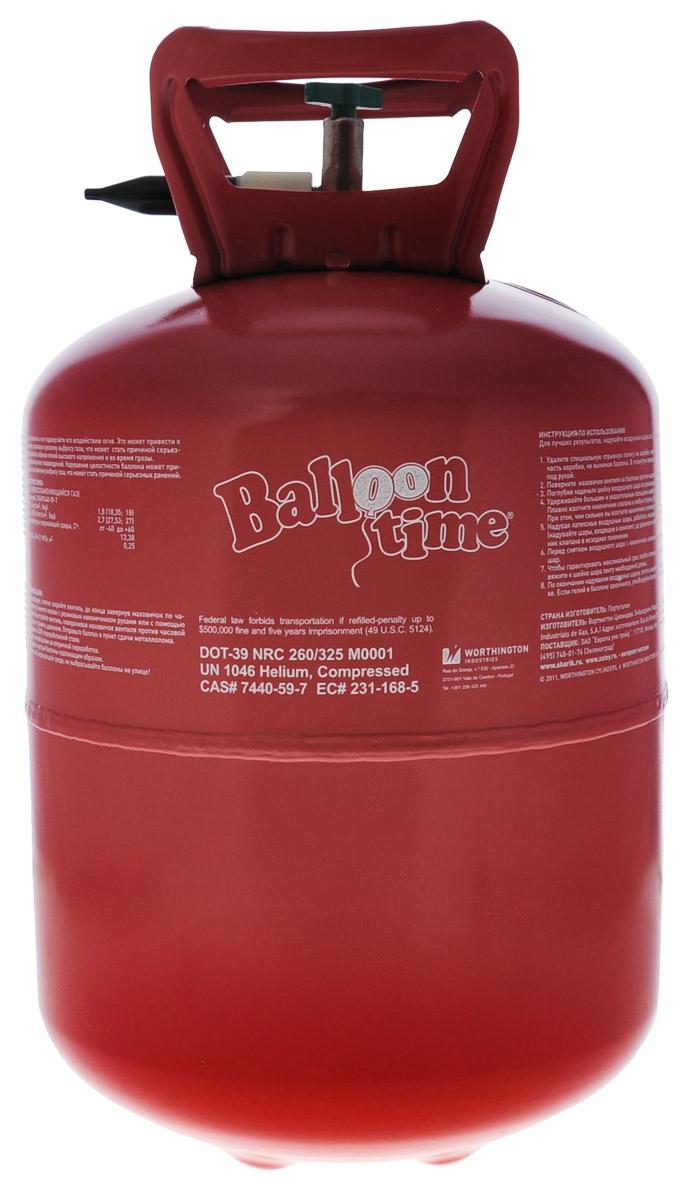 Веселая затея Гелий в портативном баллоне цвет красный