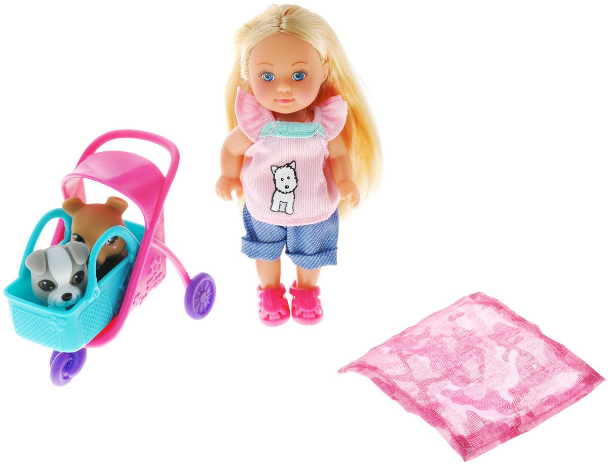 Simba Игровой набор с мини-куклой Evi Love Animal Buggy цена