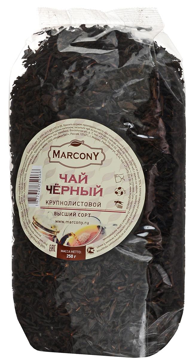 Marcony черный листовой чай, 250 г greenfield blueberry forest черный листовой чай 250 г