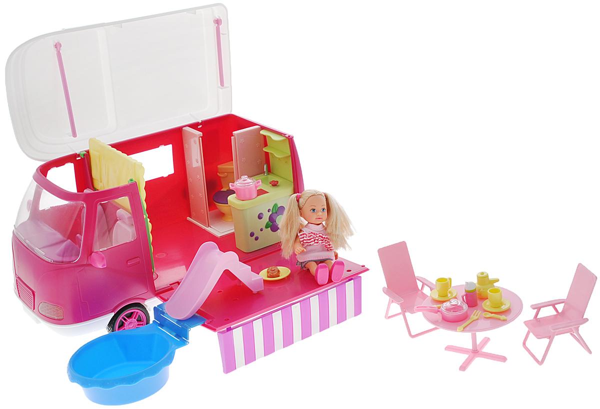 Simba Игровой набор с мини-куклой Еви на отдыхе simba игровой набор с мини куклой evi love fairy carriage