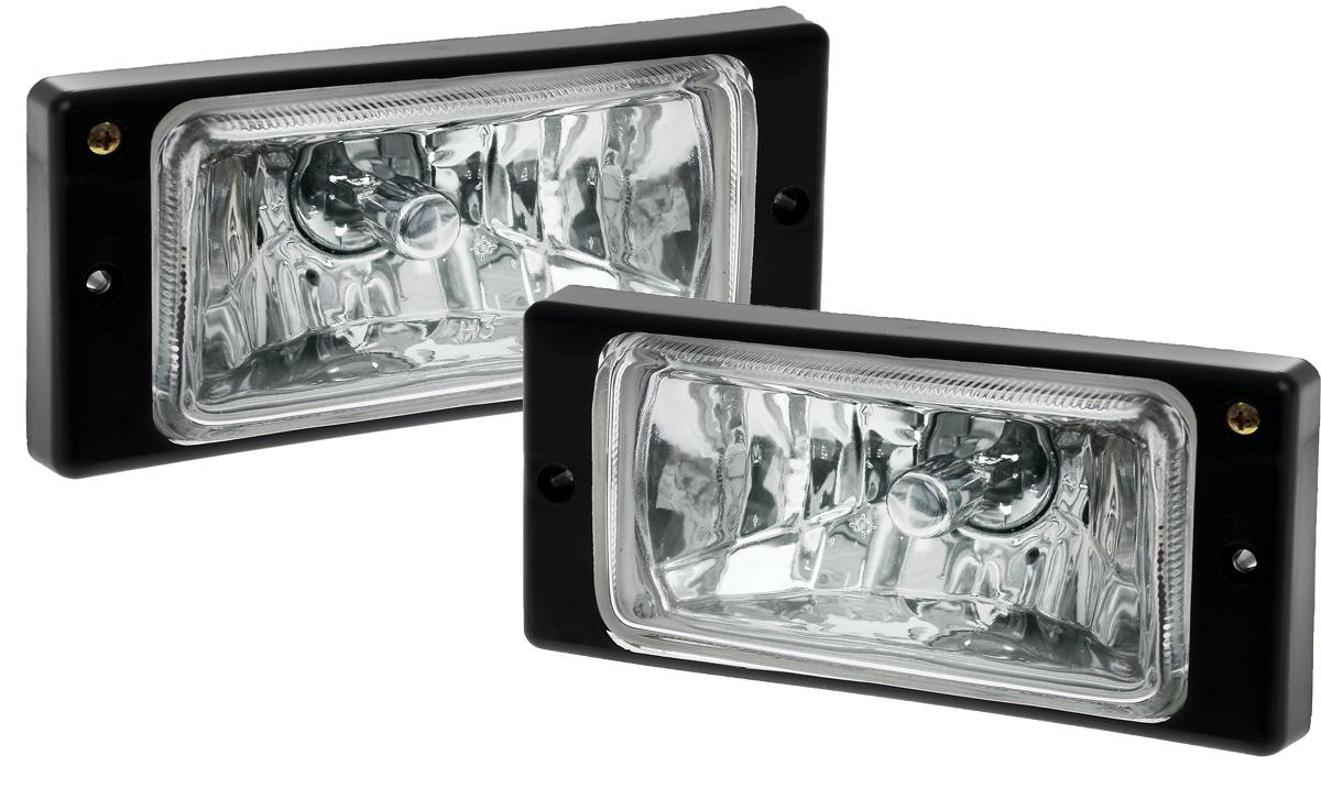 Противотуманные галогенные фары AVS PF-174H, для Lada 2110-2112, 2 шт фары противотуманные avs ваз 2110 12 гладкое стекло светодиодные