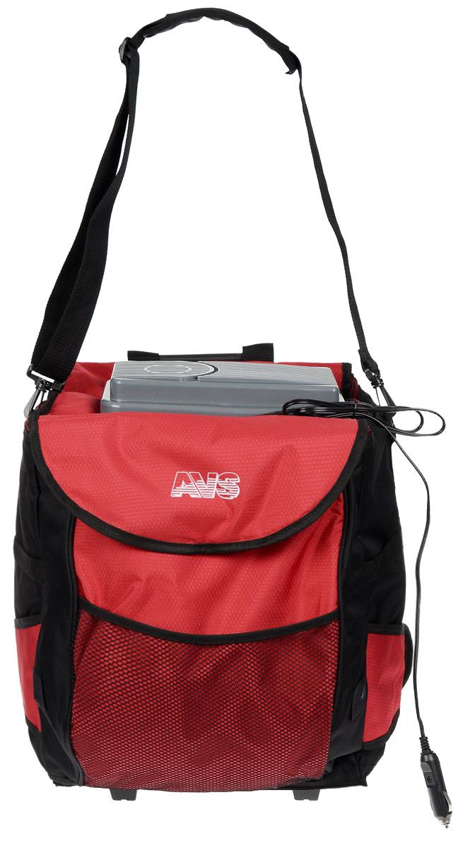 """Сумка-холодильник AVS """"CB-32А"""" обладает всеми свойствами термосумки. Высококачественная плотная полиэтиленовая пена обеспечивает термоизоляцию. Оснащена дополнительными боковыми карманами. Рекомендуется использовать с аккумуляторами холода AVS. Принцип работы по эффекту """"Пельтье"""". В сумке-холодильнике используется PEVA - экологически чистая пленка, выполненная из растительного сырья, которая не содержит тяжелых металлов и не влияет на окружающую среду, и в том числе на находящиеся в ней продукты. Покупая сумку с такой пленкой, вы заботитесь не только о своих продуктах, но и о природе. Максимальное охлаждение: 10-12°С ниже температуры окружающей среды (не ниже +5°С). Объем: 32 л. Потребляемая мощность: 48 Вт/4,2 А. Вес: 3,5 кг."""