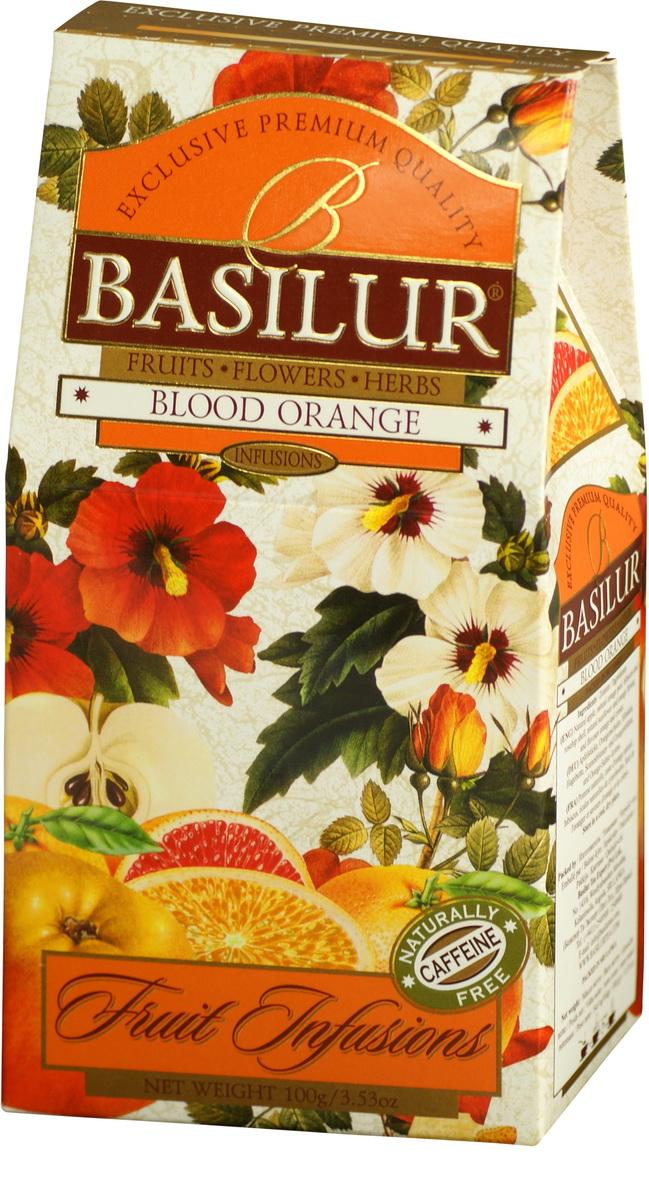 Basilur Blood Orange фруктовый листовой чай, 100 г чайники и кофейники на кухню basilur