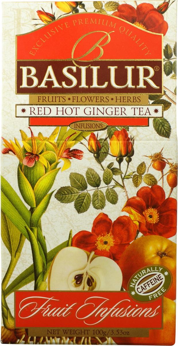 Basilur Red Hot Ginger Teaфруктовый листовой чай, 100 г Basilur