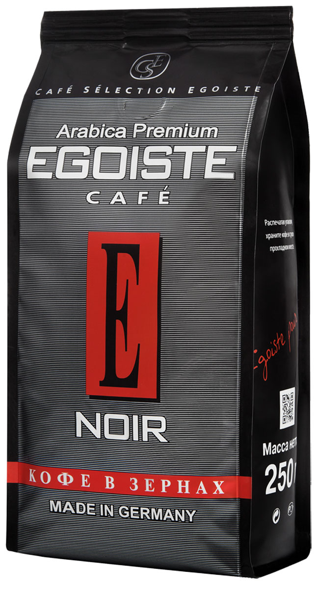Egoiste Noir кофе в зернах, 250 г4009041103196Великолепная смесь высокогорной и равнинной Кенийской Арабики, отличающейся богатым ароматом, нежной кислинкой и мягким вкусом. Отборные зерна равнинной арабики придают этому кофе изумительный аромат, а завершенность вкусу дарит кофе с лучших высокогорных плантаций.