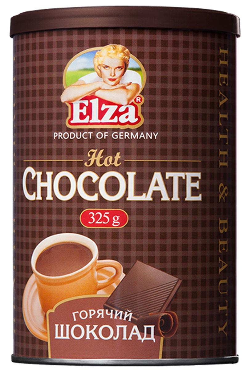 Elza Hot Chocolate шоколад горячий, 325 г4260283250110Приготовленный из отборных какао-бобов по традиционному немецкому рецепту горячий шоколад Elza заряжает энергией и хорошим настроением.