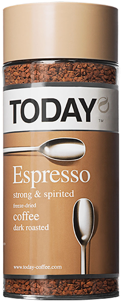 Today Espresso кофе растворимый, 95 г кофе растворимый today pure arabica 95г