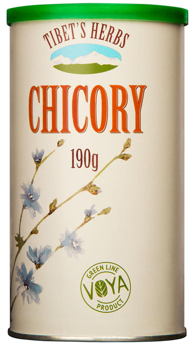 Tibets Herbs цикорий, 190 г5060295130016100% натуральный растворимый напиток Tibets Herbs сохранил все натуральные и полезные свойства корня цикория - без добавления сахара и кофеина.