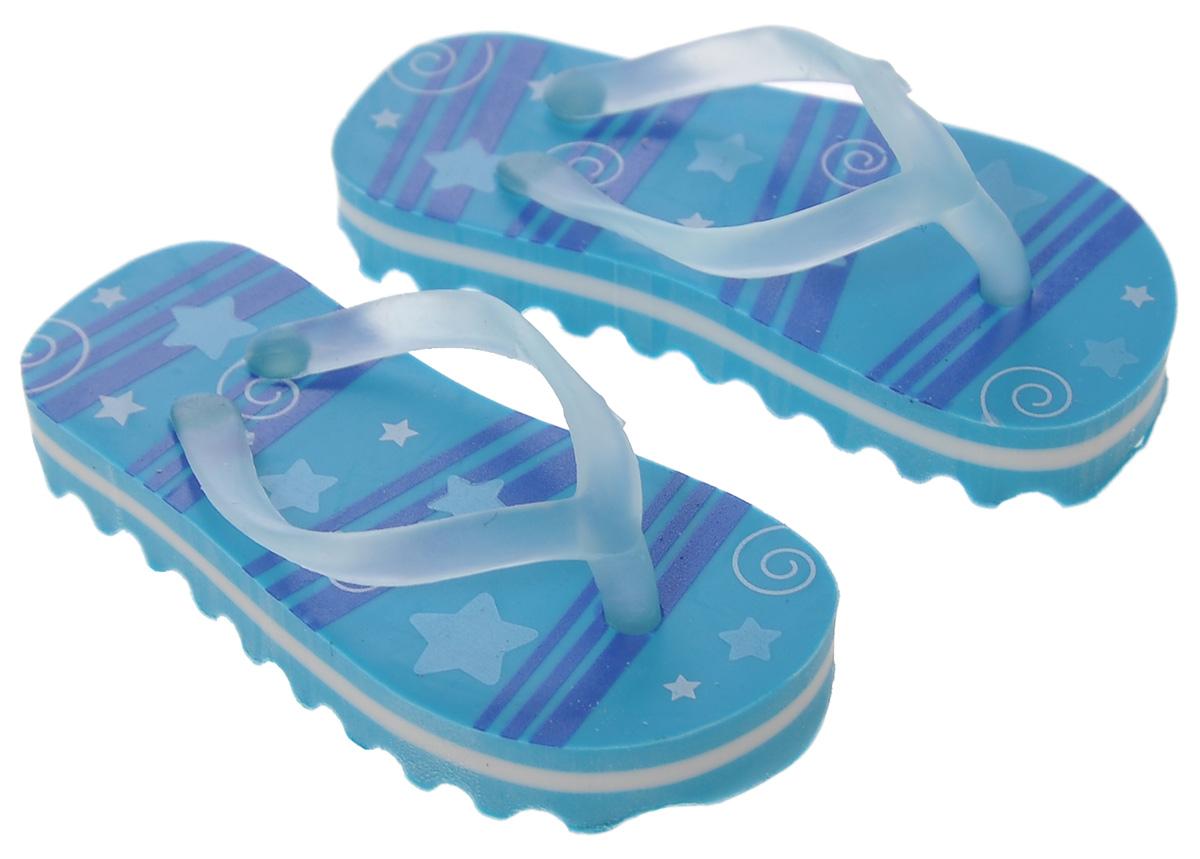 Brunnen Ластик Пляжные тапочки, цвет: синий, 2 шт10-29 979_синийЛастик Brunnen Пляжные тапочки выполнен в оригинальном дизайне. Представляет собой резинку для стирания, выполненную в виде миниатюрных копий пляжных тапочек синего цвета.Ластик обеспечивают высокое качество коррекции и не повреждает поверхность бумаги.