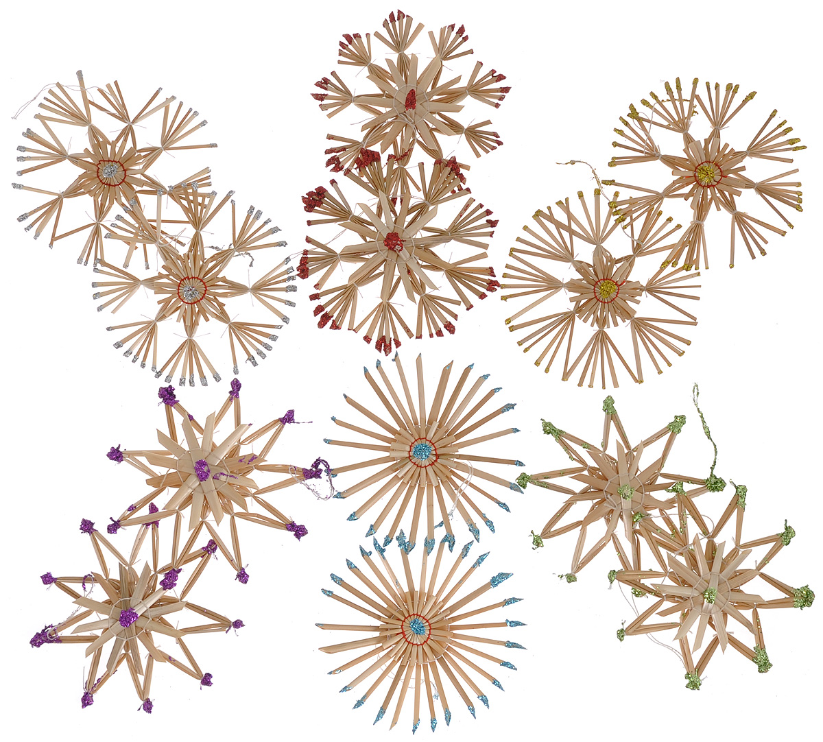 Набор новогодних подвесных украшений Феникс-презент Радуга, 12 шт набор новогодних украшений феникс презент бант цвет лиловый 12 шт 39193