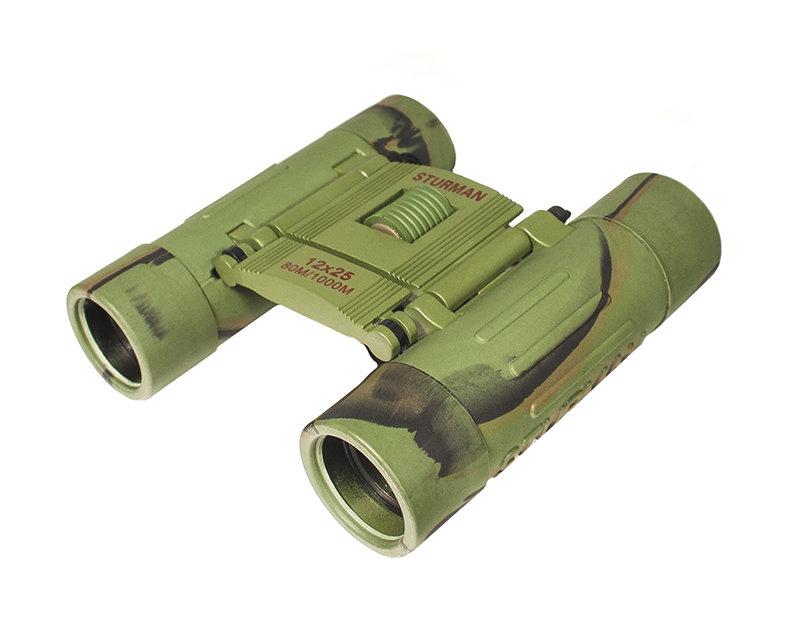 Sturman 12x25 бинокль, цвет: зелёный