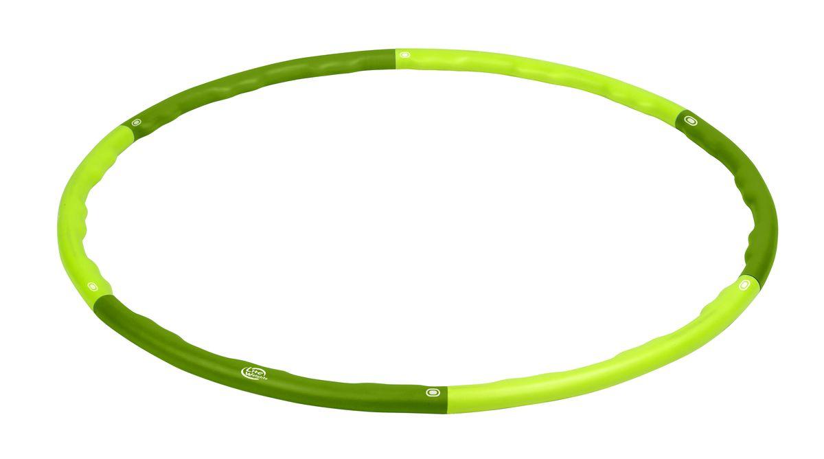 Обруч гимнастический массажный Lite Weights, цвет: салатовый, болотный, 100,5 см1843LWГимнастический массажный обруч Lite Weights применяется для коррекции фигуры в области талии, тренировки брюшных мышц, улучшения работы дыхательной и сердечно-сосудистой систем, повышая общий тонус организма. Развивает координацию движений, гибкость, укрепляет вестибулярный аппарат, мышцы рук, плеч, спины и ног. Нормализует работу кишечника. Имеет массажную поверхность, что дополнительно стимулирует проблемные зоны при тренировках. Преимущества обруча модели 1843LW: - мягкий внешний слой, выполненный из вспененного полипропилена, защищает тело от ушибов и придает дополнительный комфорт при тренировках; - прочный каркас, благодаря внутреннему стальному стержню; - наличие внутренней массажной поверхности, обеспечивающей массаж в области талии и, тем самым, способствующей скорейшему сжиганию лишних килограммов; - простой механизм сборки/разборки обруча и удобство в хранении. Диаметр внешний: 100,5 см. Диаметр внутренний: 93 см.Диаметр трубы (вместе с мягким внешним слоем): 3,2 см. Диаметр внутренней стальной трубы: 2,5 см.Количество сегментов: 6 шт.Как выбрать кардиотренажер для похудения. Статья OZON Гид