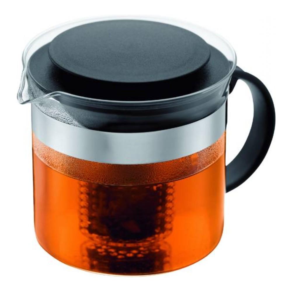 Чайник заварочный Bodum Bistro, с фильтром, 1 л кофейник bodum brazil с прессом цвет белый 1 л