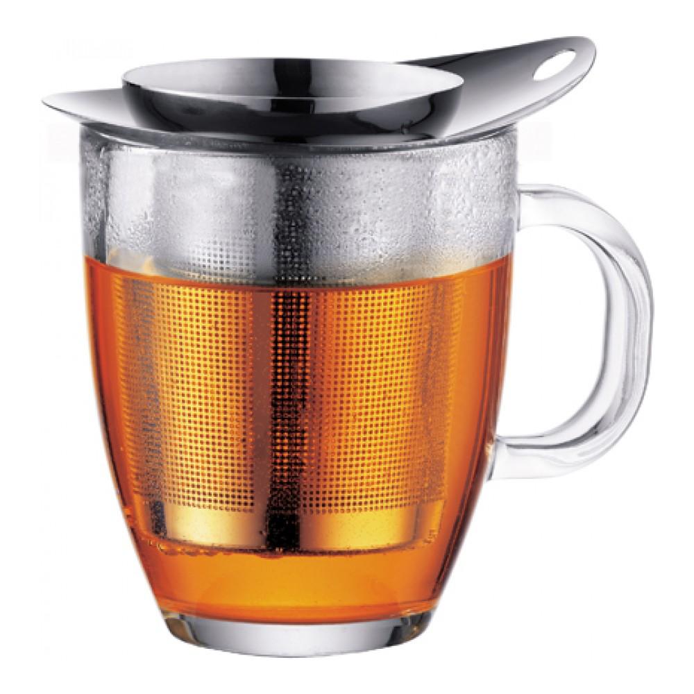 Кружка Bodum YO-YO, с фильтром, цвет: серебристый, 350 мл. K11239-16K11239-16Такая кружка с фильтром невероятно удобна для заваривания чая, а также лечебных трав. Благодаря съемному фильтру, напиток останется чистым.