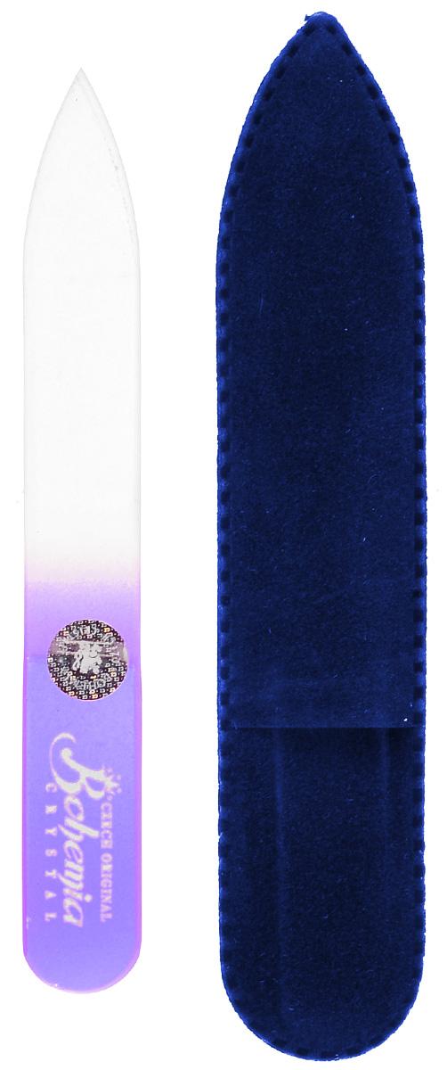 Пилочка для ногтей Bohemia, стеклянная, чехол из замши. 0902, цвет:фиолетовый233cz-0902вм_фиолетовыйУважаемые клиенты!Обращаем ваше внимание на цветовой ассортимент чехла. Поставка осуществляется в зависимости от наличия на складе.