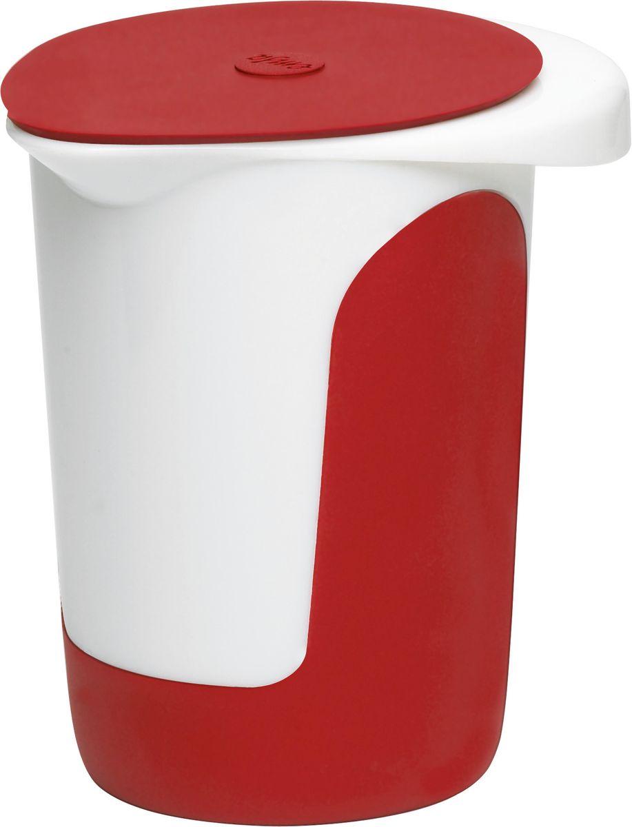 Миска для смешивания Emsa Mix&Bake, с крышкой, цвет: белый, красный, 1 л508017Миска Emsa Mix&Bake предназначена для взбивания теста при выпечке. Выполнена из высококачественного пищевого пластика. Противоскользящее основание и зоны захвата для надежного удержания - также в наклоненном положении. Внутри расположена мерная шкала. Изделие оснащено крышкой.