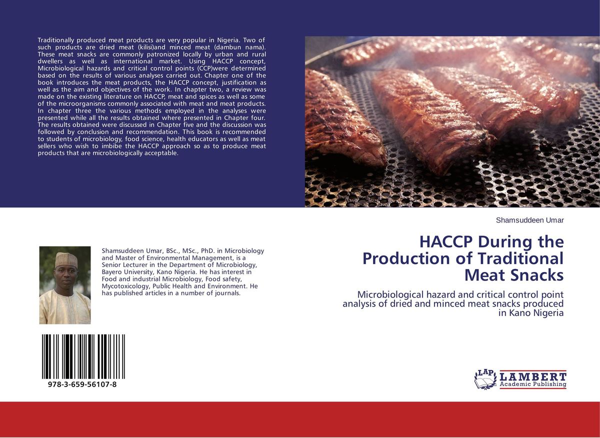 HACCP During the Production of Traditional Meat Snacks capture of haccp data in the abattoir