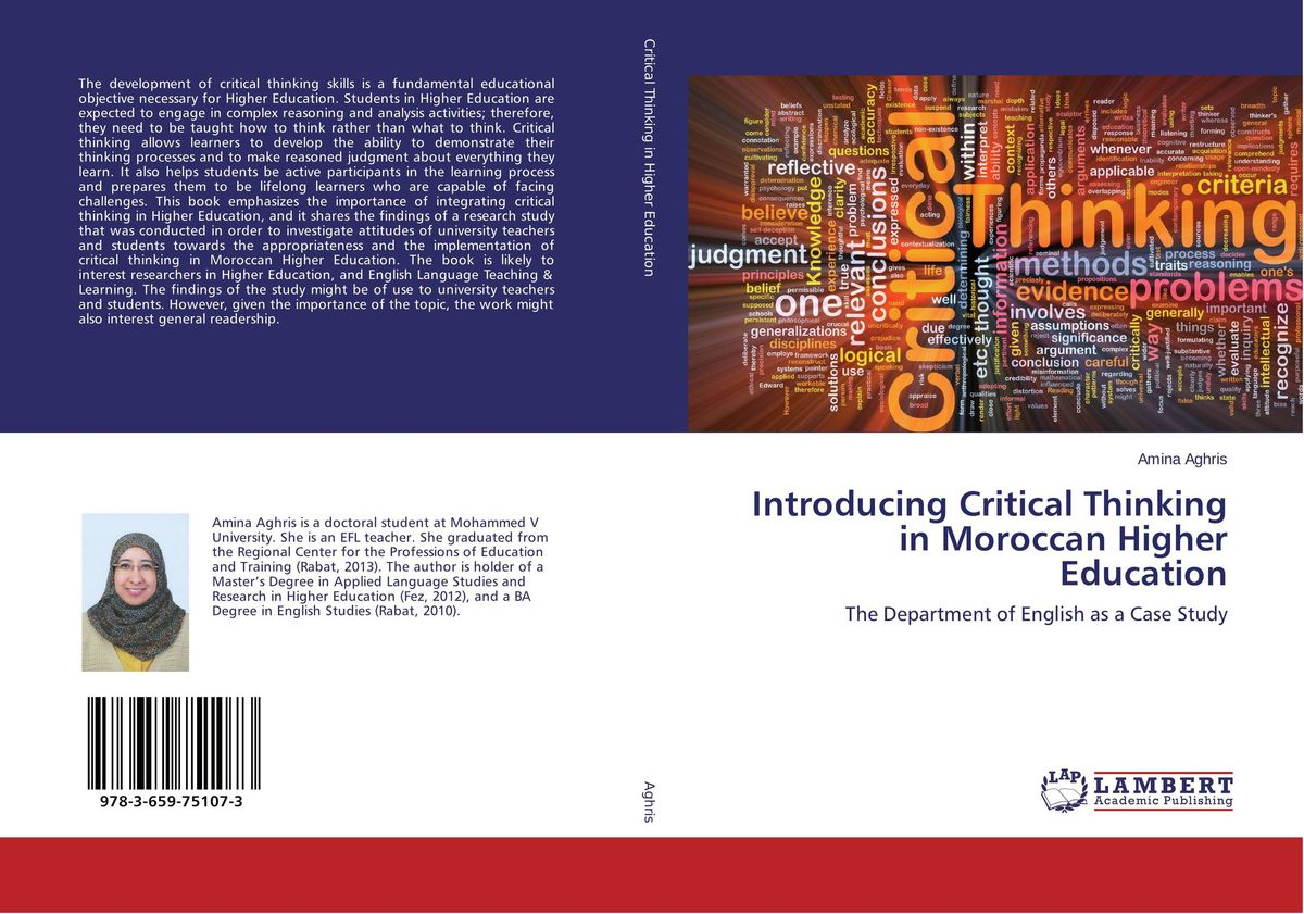 Introducing Critical Thinking in Moroccan Higher Education dimitrios stergiou good teaching in tourism higher education
