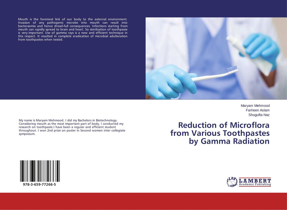 Reduction of Microflora from Various Toothpastes by Gamma Radiation mrsa bacteraemia