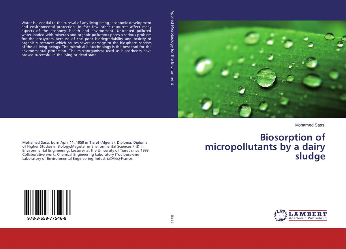 Biosorption of micropollutants by a dairy sludge adding value to the citrus pulp by enzyme biotechnology production