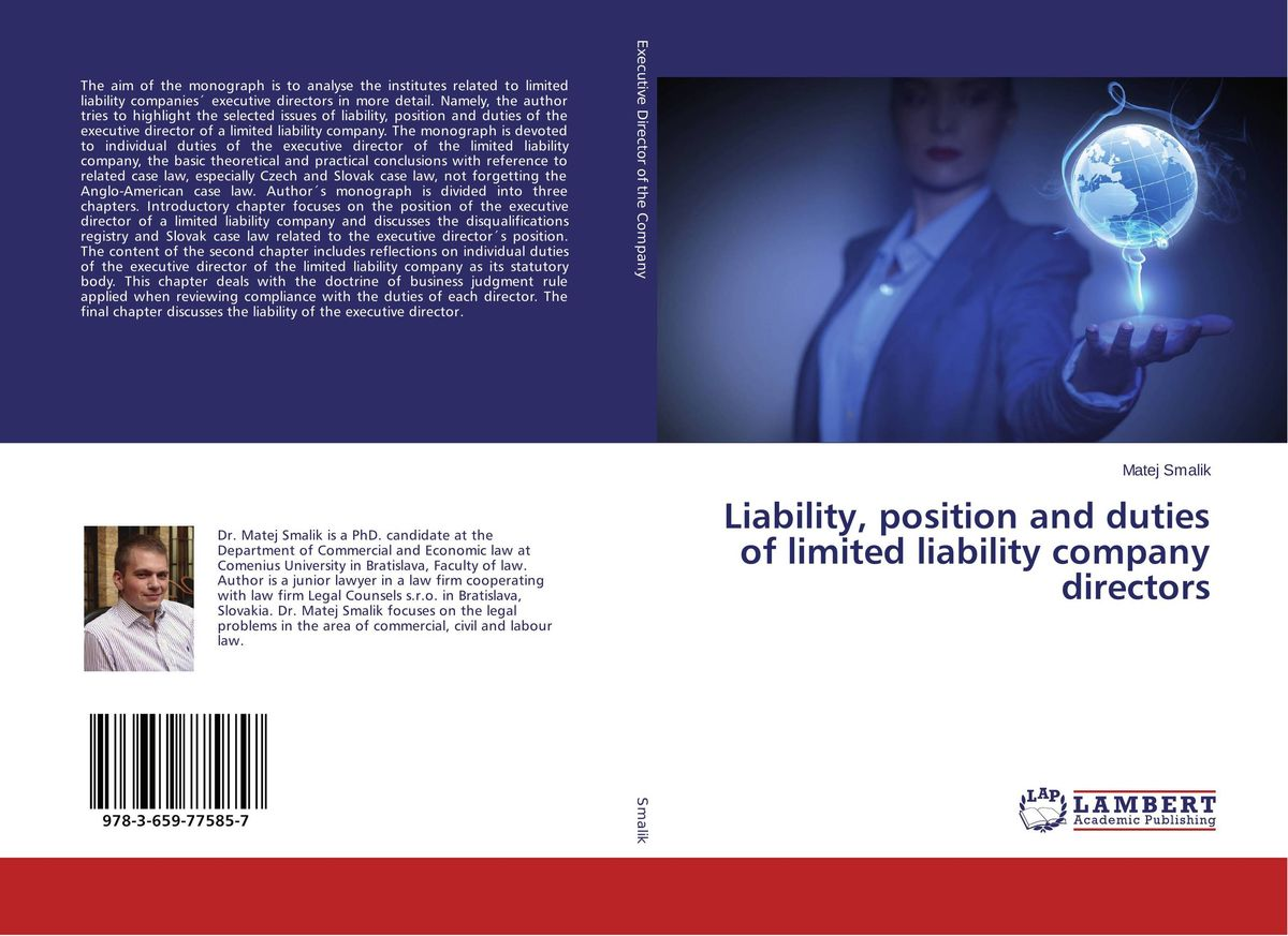 Liability, position and duties of limited liability company directors ozcan лампа timon 60 белая