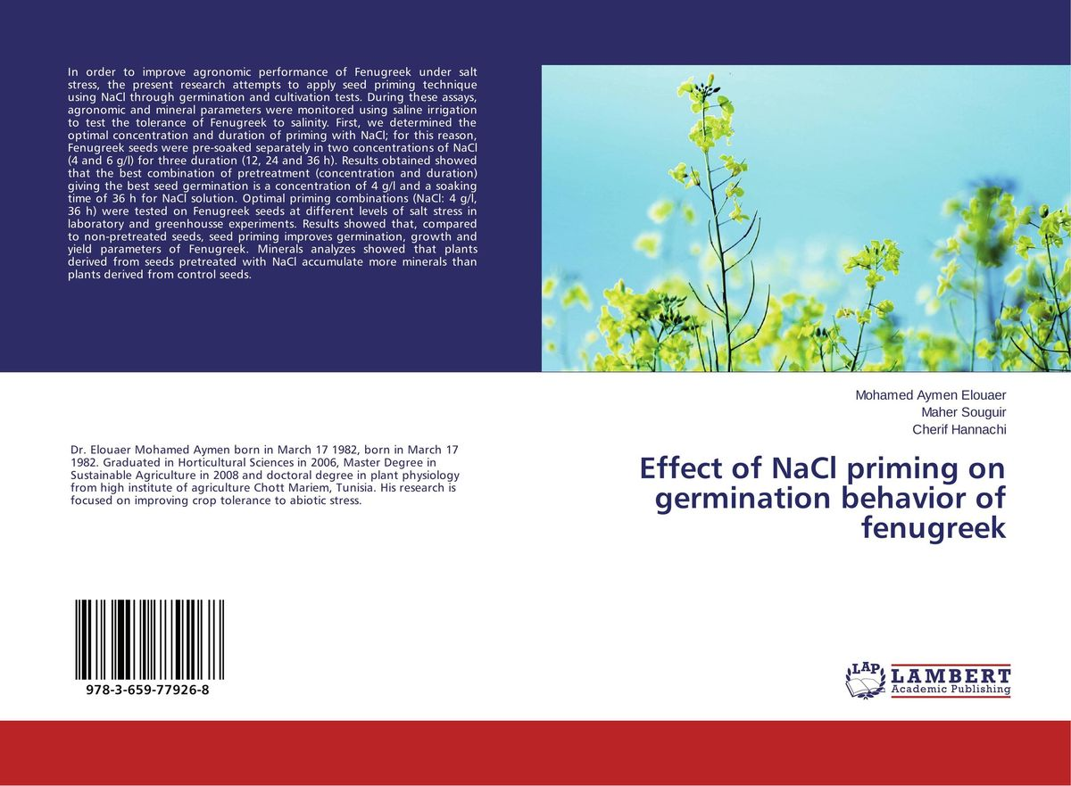Effect of NaCl priming on germination behavior of fenugreek