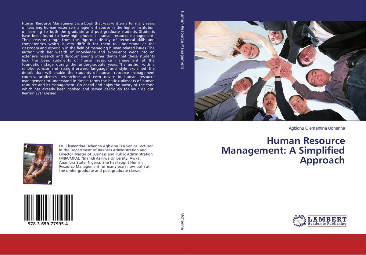 Human Resource Management: A Simplified Approach business models and human resource management