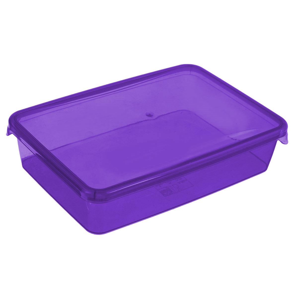 Контейнер Glaretti Браво, цвет: фиолетовый, 0,9 лПЦ1034_фиолетовыйКонтейнер P&C Браво выполнен из высококачественного пищевого пластика и предназначен для хранения и транспортировки пищи.Крышка легко открывается и плотно закрывается с помощью легкого щелчка. Подходит для использования в микроволновой печи без крышки (до +100°С), для заморозки при минимальной температуре -30°С. Можно мыть в посудомоечной машине.