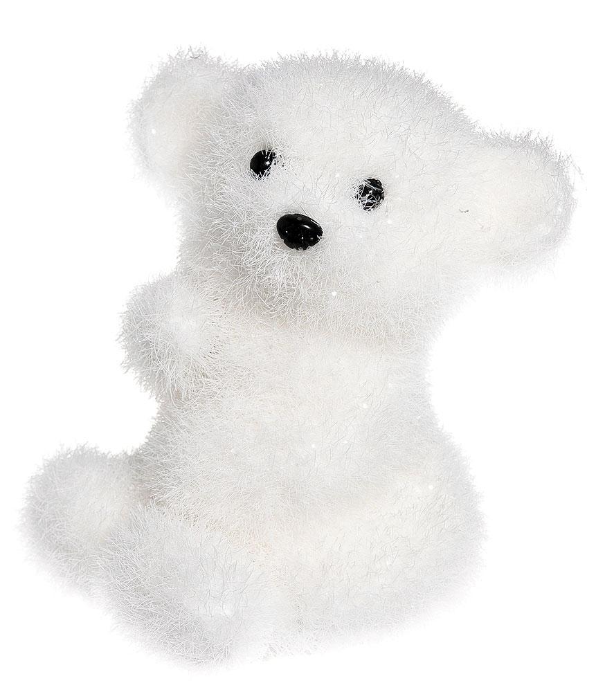 Новогодняя декоративная фигура It's a Happy Day Ушастый медвежонок, высота 15 см фигура новогодняя мишка с венком 39 см