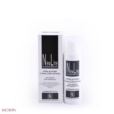 New Line Крем для век с маслом арганы, 30 мл23101Укрепляет, тонизирует, увлажняет нежную кожу вокруг глаз, снимает признаки усталости, возвращая коже свежесть, приятный цвет и сияние. Стимулирует синтез коллагена, омолаживая кожу, оказывает выраженный лифтинг-эффект на кожу нижнего и верхнего века.Смягчает морщины, питает тонкую сухую кожу век, защищает от воздействия УФ-лучей. Способствует уменьшению проявления отечности и темных кругов под глазами.