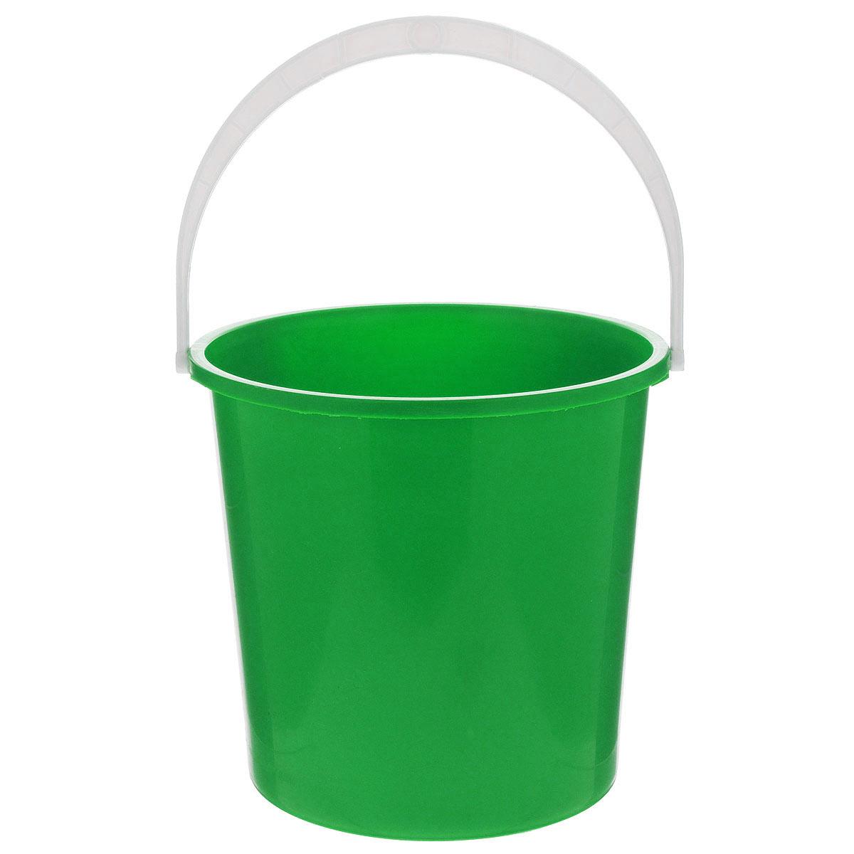 Ведро Альтернатива Крепыш, цвет: зеленый, 5 лК340_зеленыйВедро Альтернатива Крепыш изготовлено из высококачественного одноцветногопластика. Оно легче железного и не подвержено коррозии.Ведро оснащено удобной пластиковой ручкой. Такое ведро станет незаменимымпомощником в хозяйстве.Диаметр (по верхнему краю): 22 см. Высота: 20,5 см.