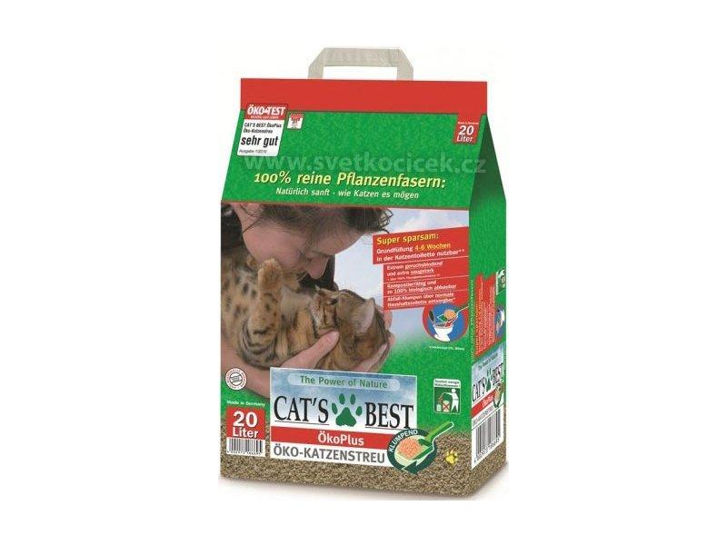 Наполнитель древесный комкующийся Cat's Best Eko Plus, 20 л (8,6 кг) наполнитель зооник древесный 5л 06234