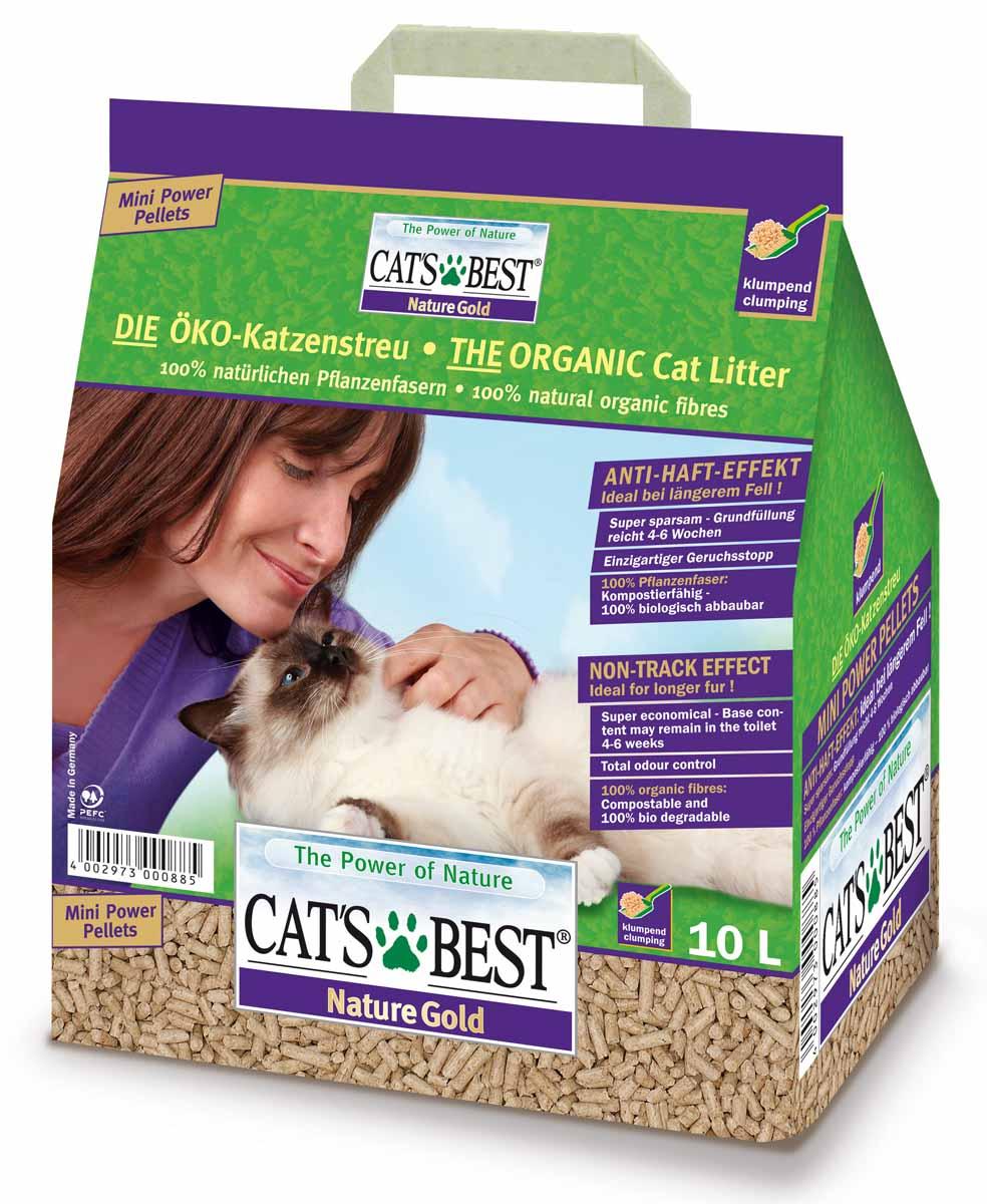 """Наполнитель древесный комкующийся Cat's Best """"Nature Gold"""", 10 л (5 кг)"""