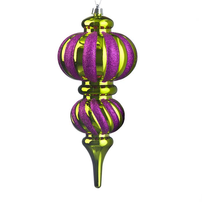 Новогоднее подвесное украшение Lunten Ranta Сосулька, цвет: фуксия, золотистый очки lunten ranta диадема 66151