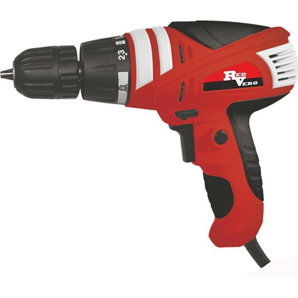 Шуруповерт электрический RedVerg RD-SD320/1RD-SD320/1Современный односкоростной сетевой шуруповёрт предназначен для заворачивания и выворачивания шурупов и саморезов, сверления отверстий в дереве, металле, керамике или пластике. Преимущества: -точная регулировка усилия - 23 положения для выбора режимов крутящего момента; -рукоятка со специальными резиновыми накладками для удобства обхвата и контроля в процессе работы; -быстрая замена оснастки. Благодаря быстрозажимному патрону, сменить рабочую оснастку легко и просто; -малый вес и компактные размеры.