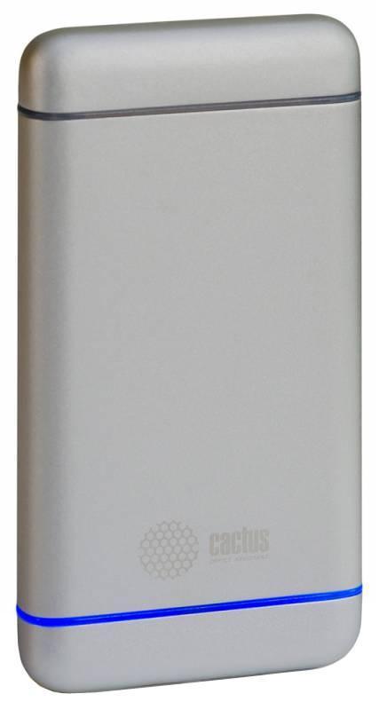 Фото Cactus CS-PBMS028-5000AL, Silver внешний аккумулятор (5000 мАч) внешний аккумулятор cactus cs pbpt18 18000al 18000mah silver