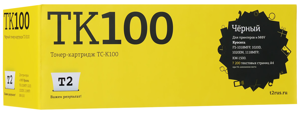 T2 TC-K100 тонер-картридж для Kyocera FS-1018MFP/1020D/1020DN/1118MFP/KM-1500