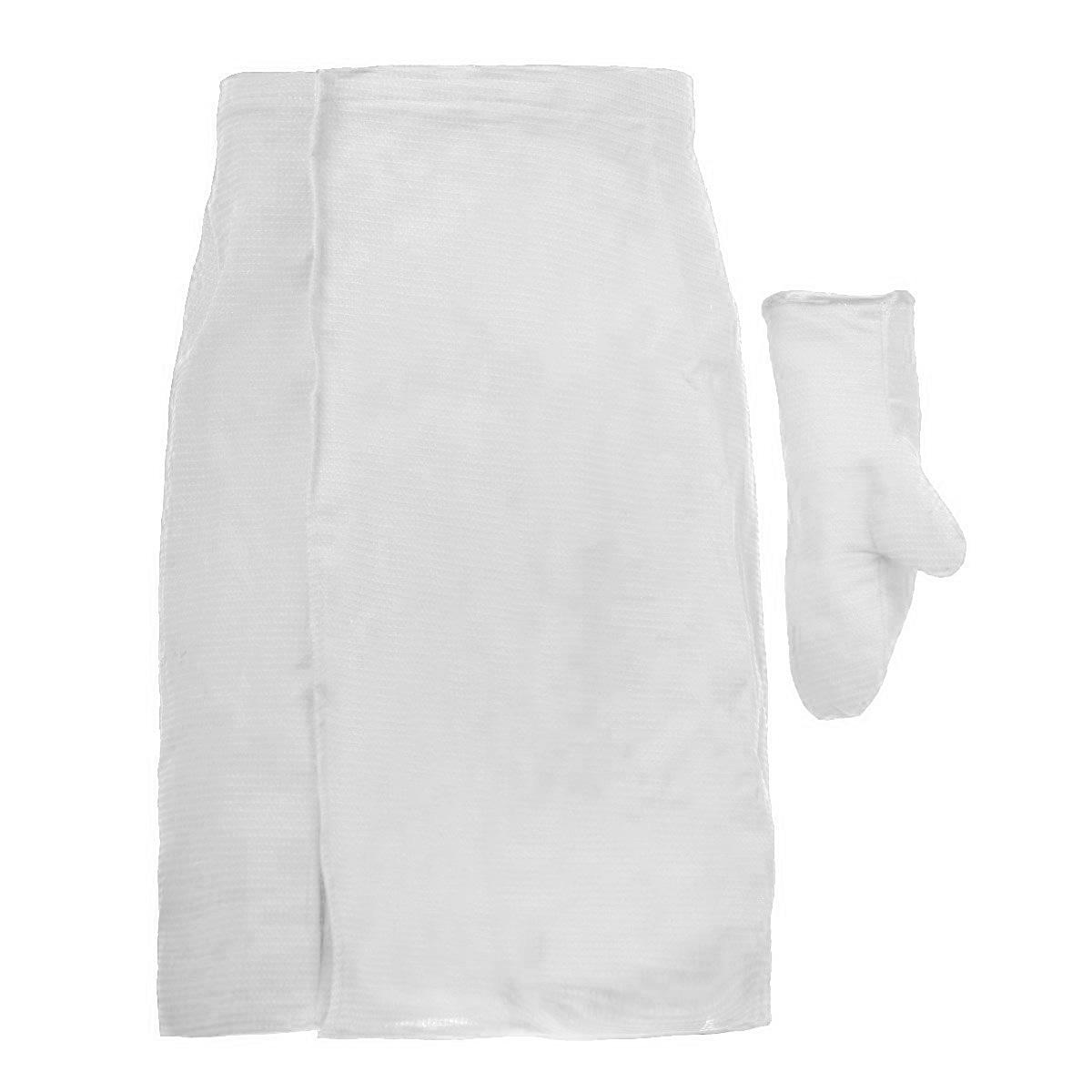 Комплект для бани  сауны Банные штучки, мужской, цвет: белый, 2 предмета. 32064