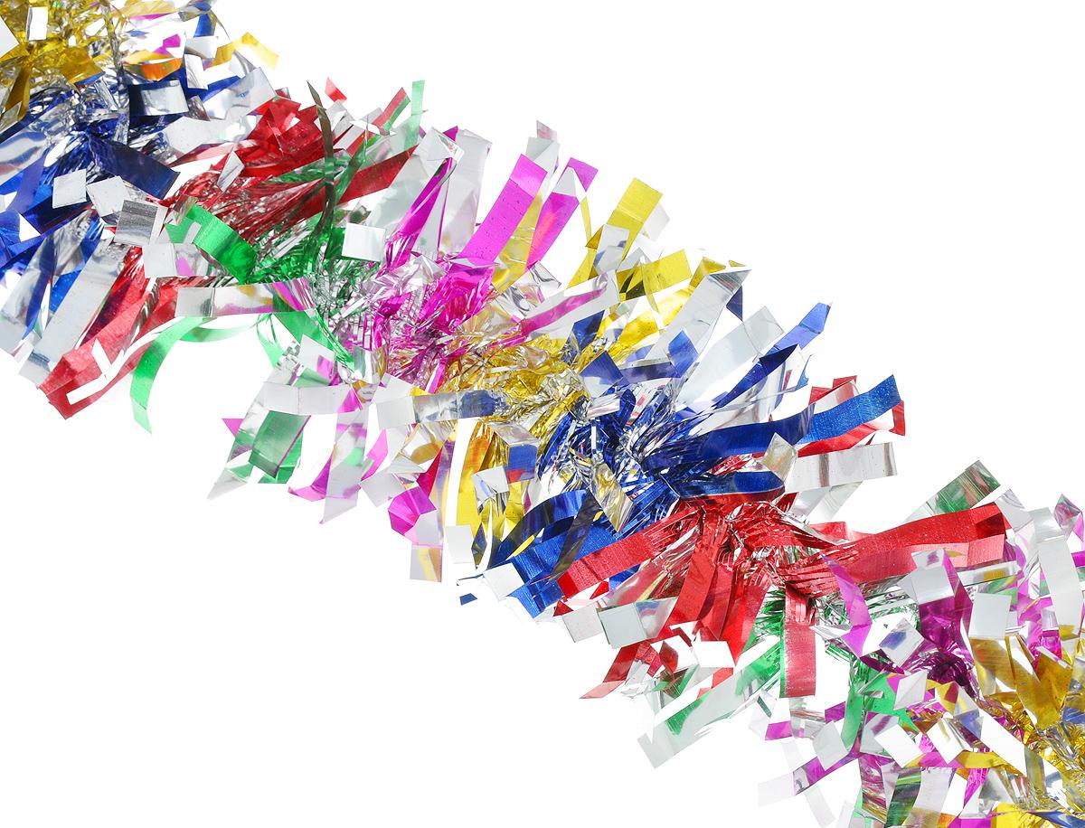 Мишура новогодняя Феникс-презент Magic Time, цвет: красный, синий, зеленый, диаметр 9 см, длина 200 см. 3819038190Мишура новогодняя Феникс-презент Magic Time, выполненная из ПЭТ (полиэтилентерефталата), поможет вам украсить свой дом к предстоящим праздникам. Мишура армирована, то есть имеет проволоку внутри и способна сохранять форму.Новогодняя елка с таким украшением станет еще наряднее. Новогодней мишурой можно украсить все, что угодно - елку, квартиру, дачу, офис - как внутри, так и снаружи. Можно сложить новогодние поздравления, буквы и цифры, мишурой можно украсить и дополнить гирлянды, можно выделить дверные колонны, оплести дверные проемы.