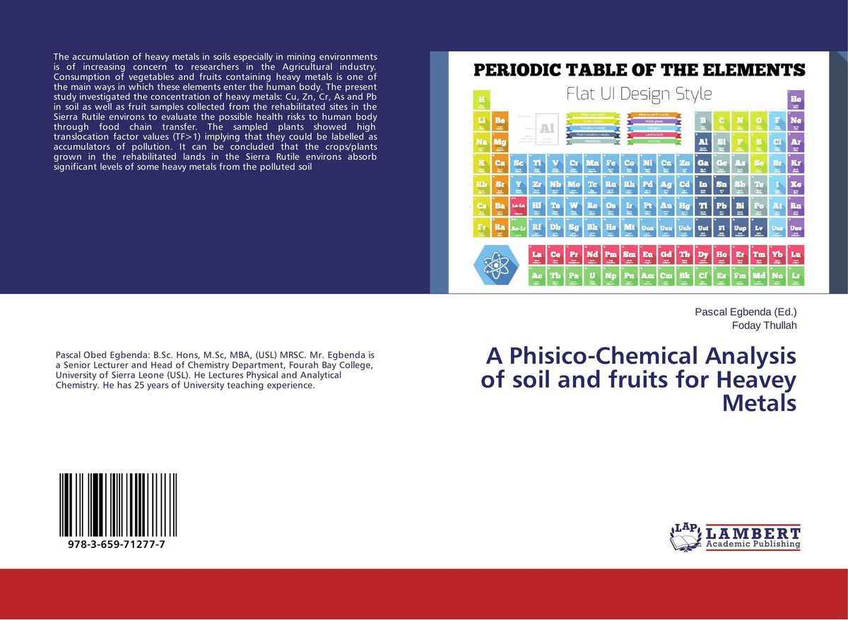 A Phisico-Chemical Analysis of soil and fruits for Heavey Metals sampling and analysis of environmental chemical pollutants a complete guide