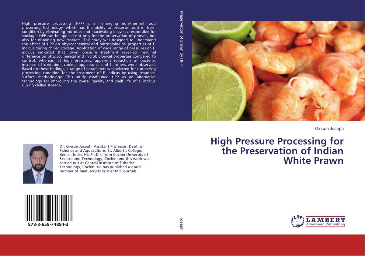 High Pressure Processing for the Preservation of Indian White Prawn processing properties