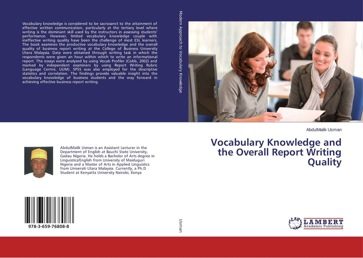Vocabulary Knowledge and the Overall Report Writing Quality neil cobb writing business bids and proposals for dummies