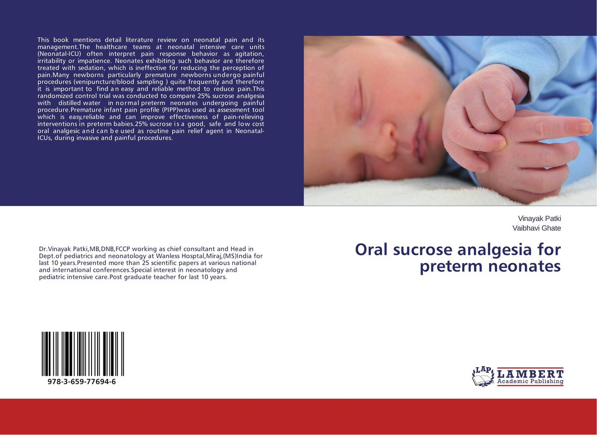 Oral sucrose analgesia for preterm neonates manjari singh introducing and reviewing preterm delivery and low birth weight